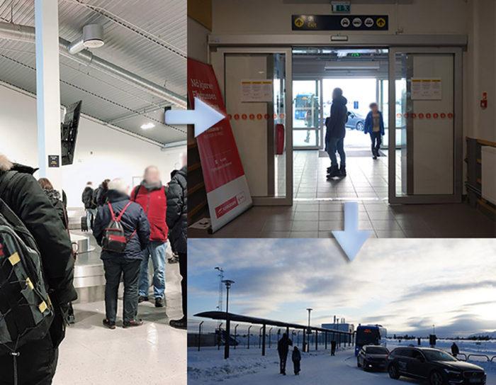 Kirkenes キルケネス空港 フッティルーテンの旅