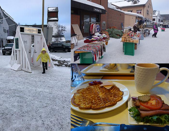 キルケネスの町とランチ Kirkenes