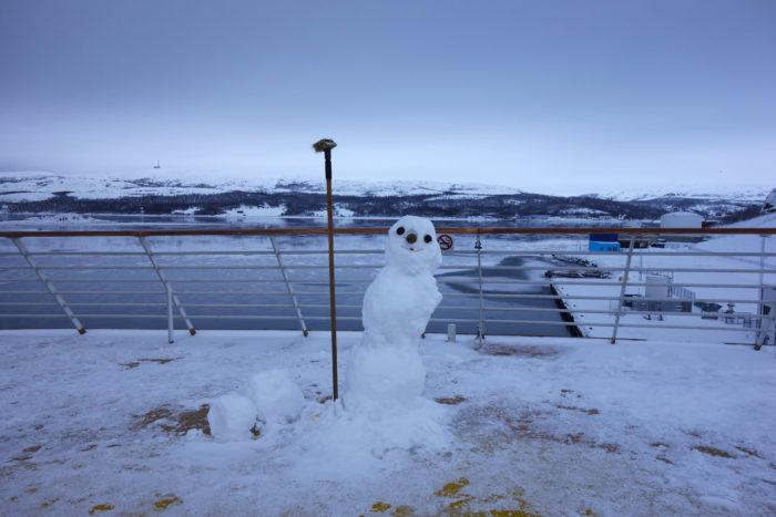 ノルウェー個人旅行、沿岸急行船・Hutigrutenフッティルーテン・デッキ