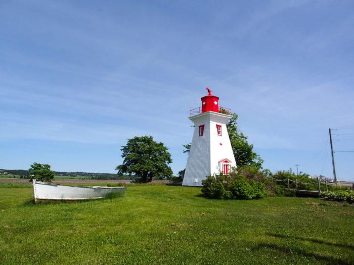 カナダ・プリンスエドワード島にて 小さな町ビクトリアの灯台