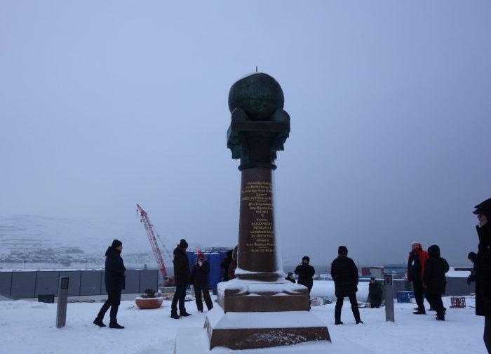 HAMMERFEST三角測量点 hurtigruten  フッティルーテン、個人旅行で北極圏の旅 ノルウェー